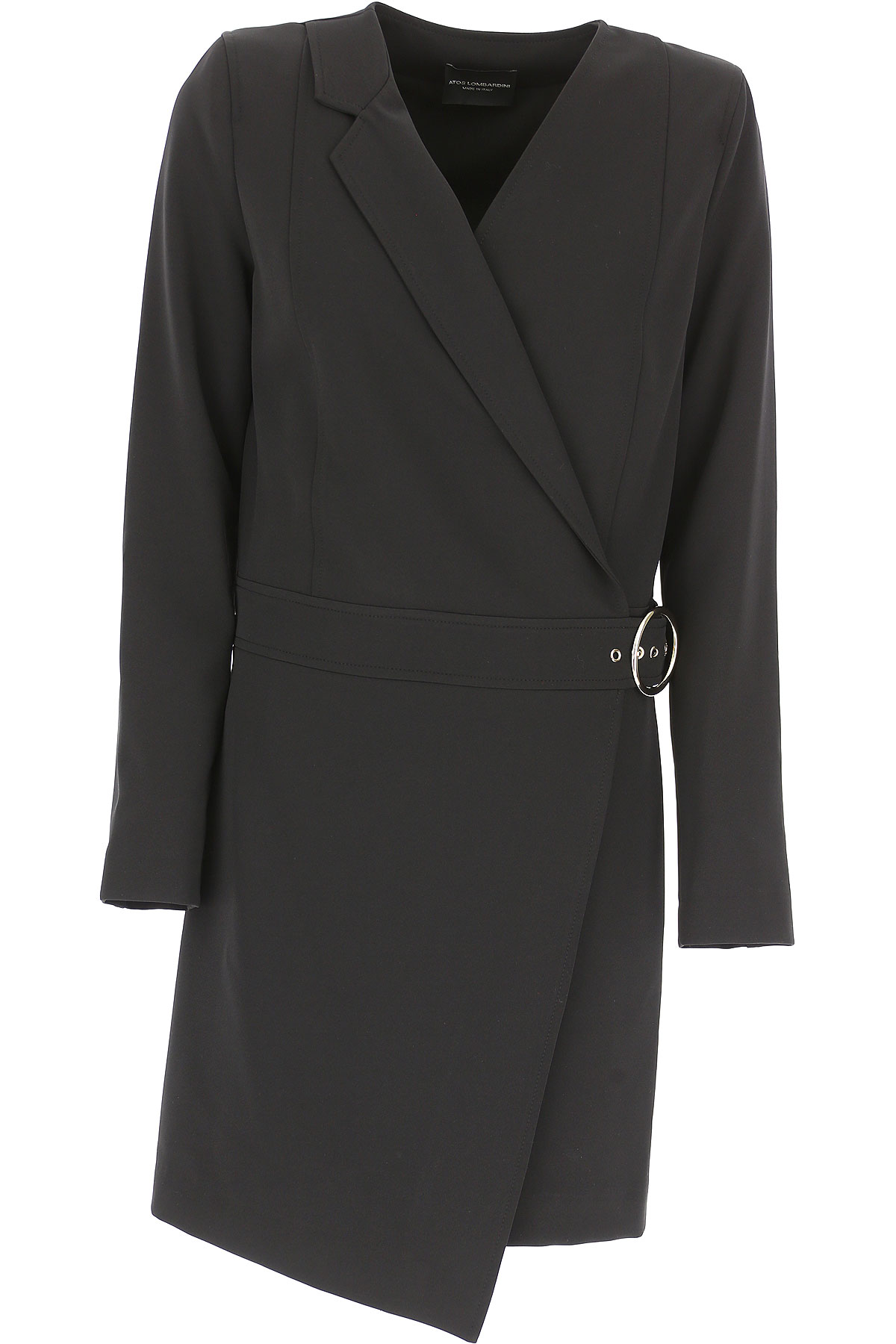 Image of Atos Lombardini Dress for Women, Evening Cocktail Party, Bla, polyester, 2017, 10 6 8