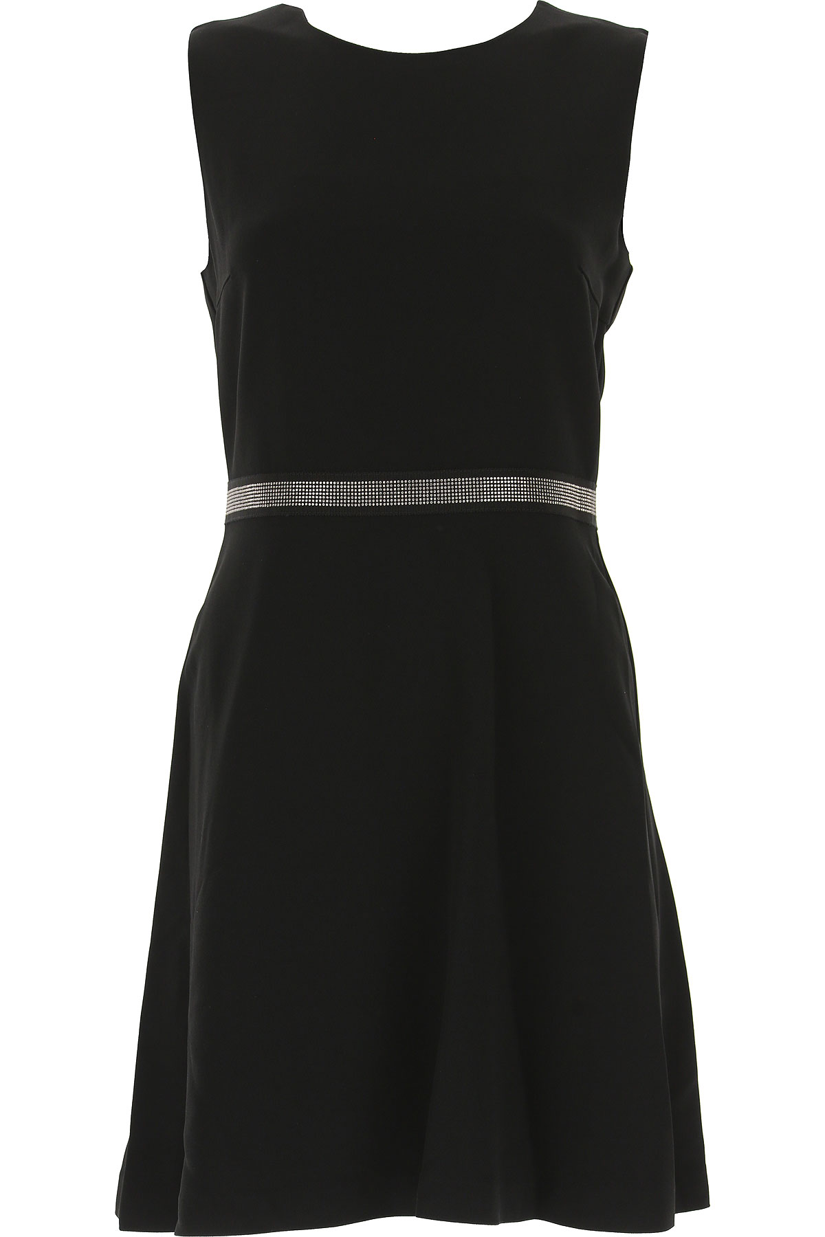 Image of Atos Lombardini Dress for Women, Evening Cocktail Party, Black, Viscose, 2017, 10 6 8
