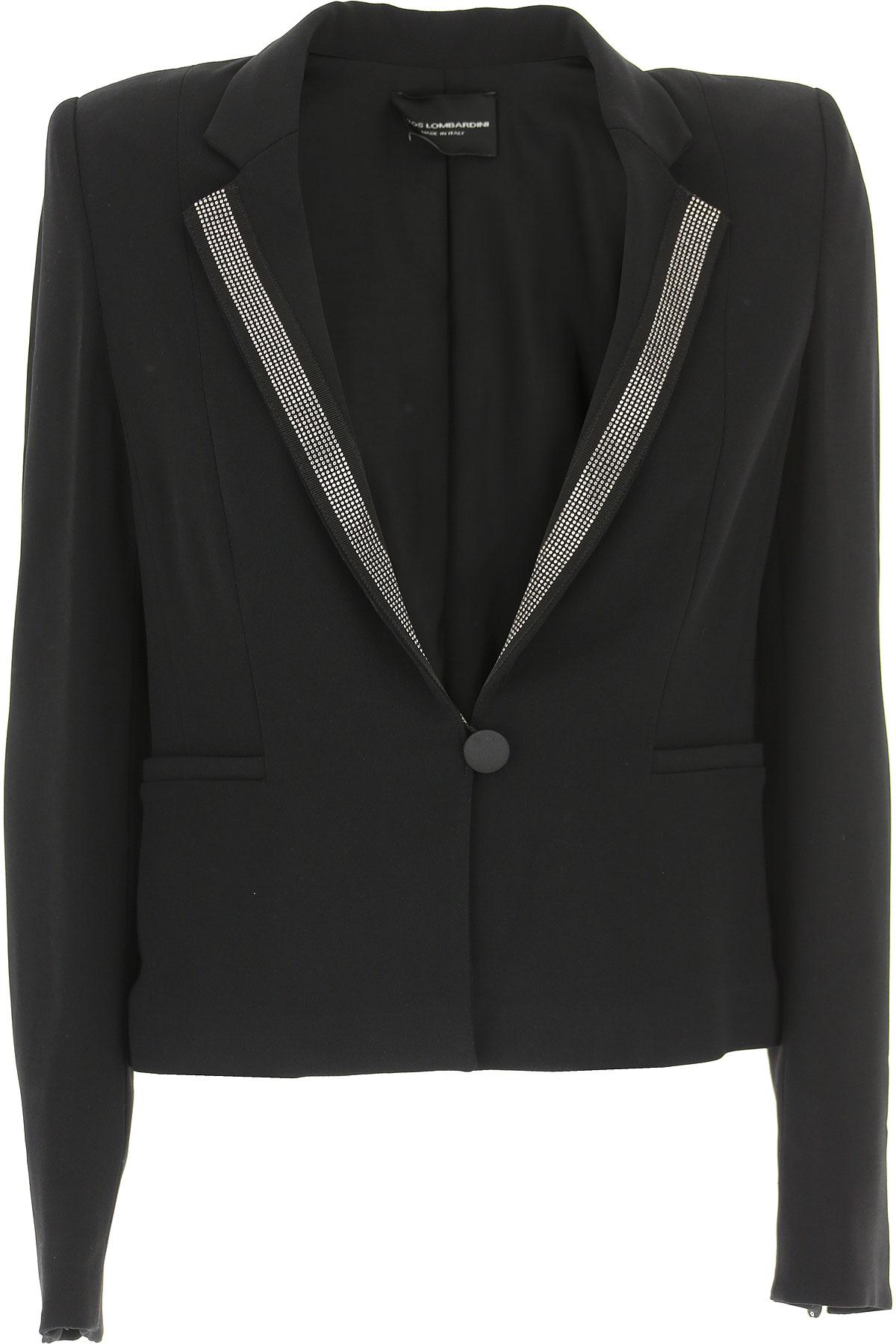 Image of Atos Lombardini Jacket for Women, Black, Viscose, 2017, 10 6 8