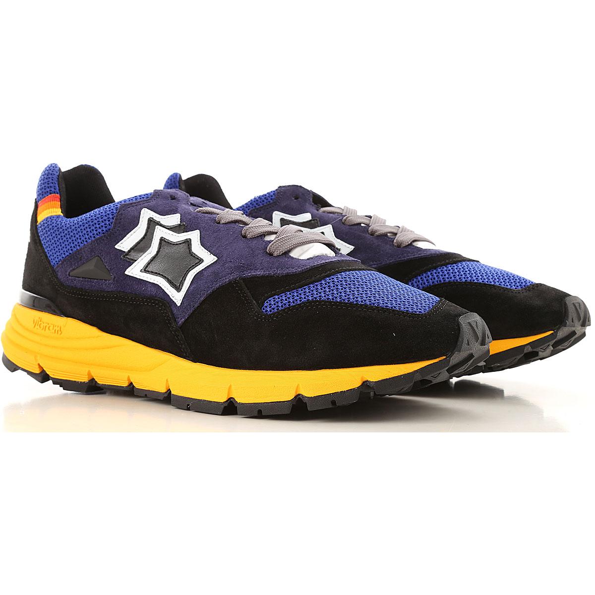 Atlantic Stars Sneakers for Men, Bluette, Leather, 2019, 10 11.5 7.5