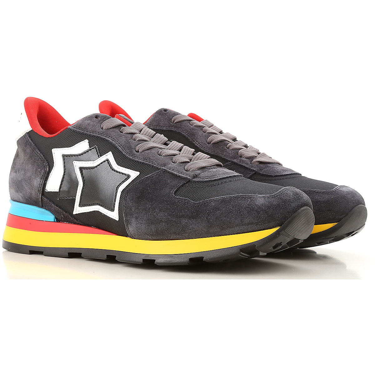 Image of Atlantic Stars Sneakers for Men, Black, Suede leather, 2017, 10.5 6.5 7.5 8 9