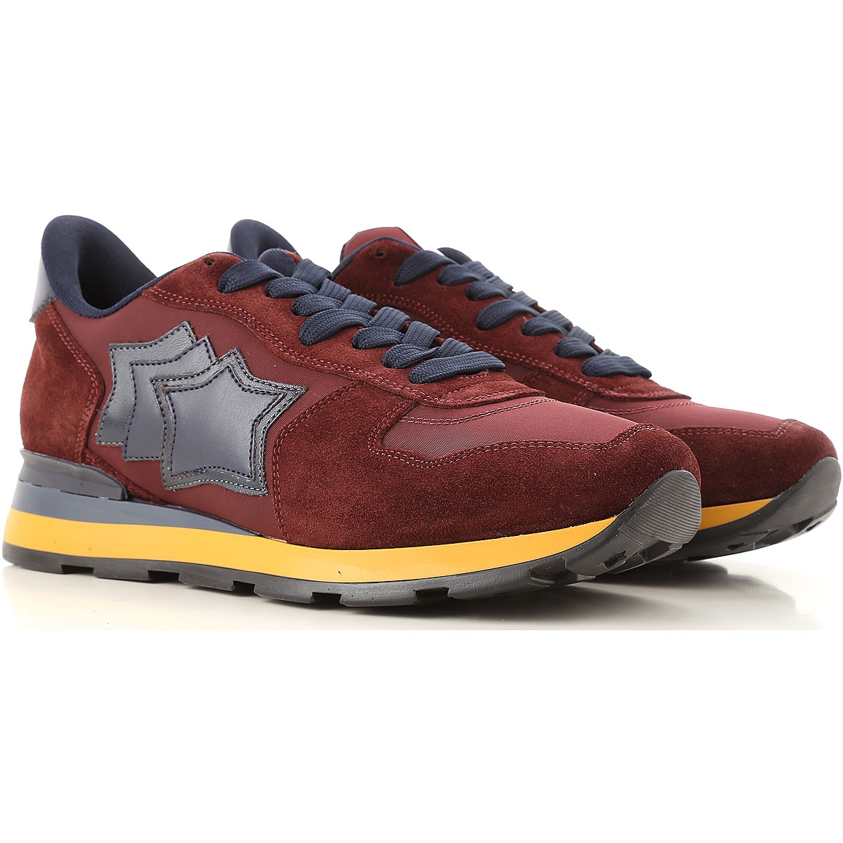 Image of Atlantic Stars Sneakers for Men, Bordeaux, Suede leather, 2017, 10 10.5 7.5 8 9