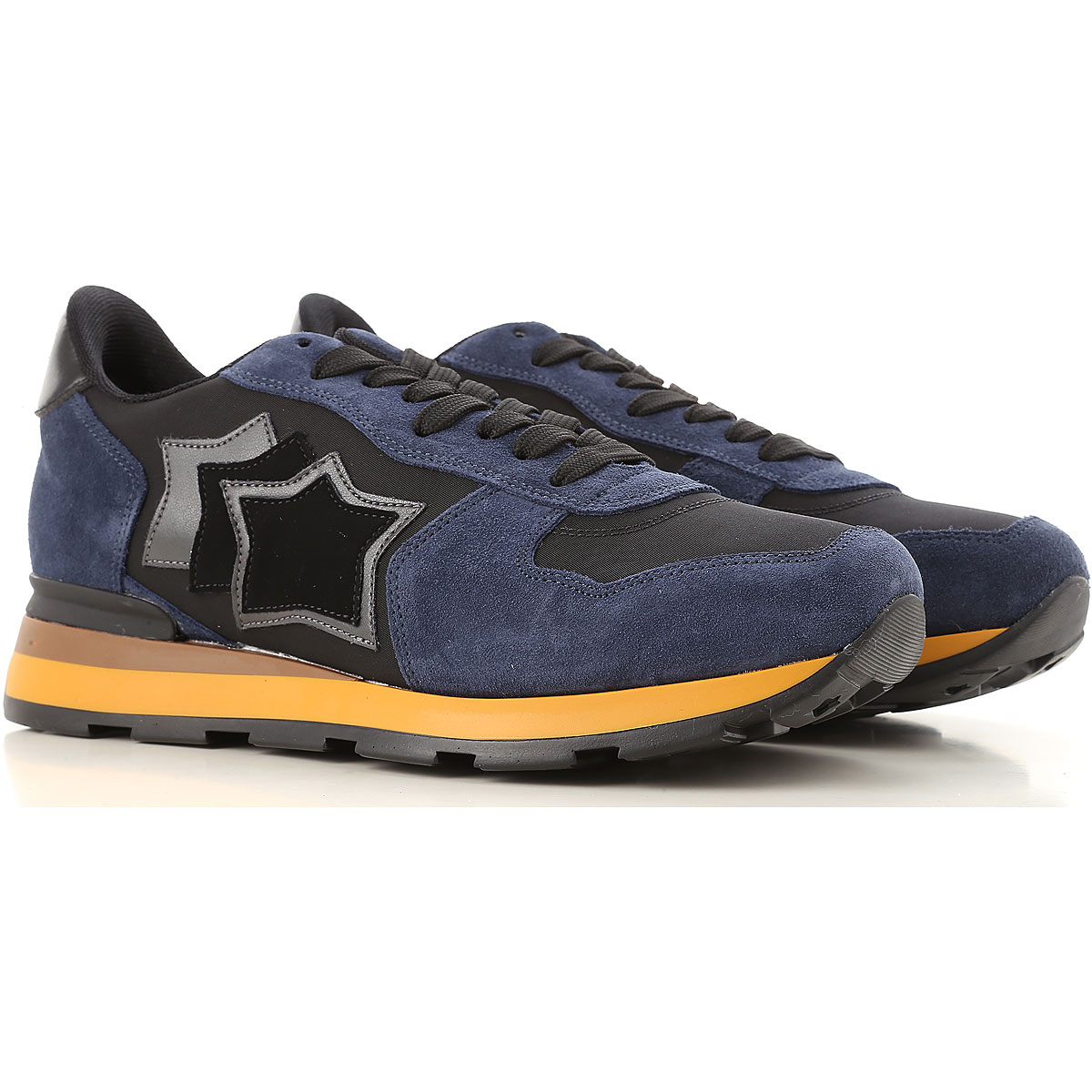 Image of Atlantic Stars Sneakers for Men, Blue, Suede leather, 2017, 10 10.5 7.5 8