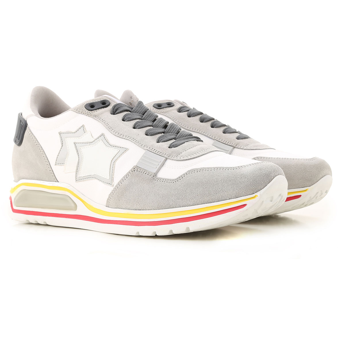 Atlantic Stars Sneakers for Men On Sale in Outlet, White, suede, 2019, 10 10.5 11.5 7.5 9