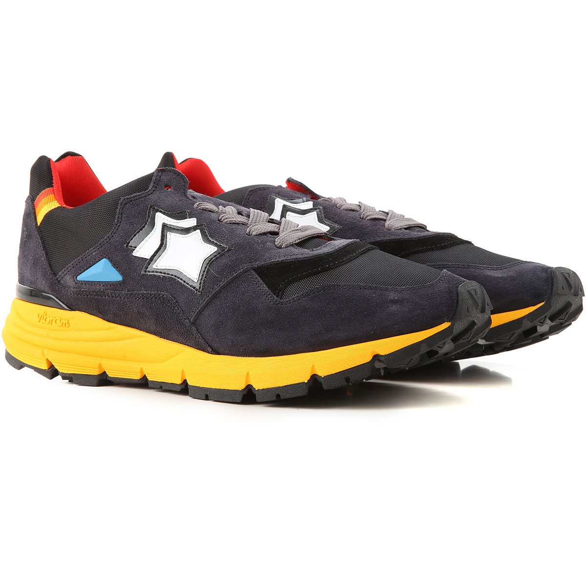 Atlantic Stars Sneakers for Men On Sale, Anthracite, Leather, 2019, 10 10.5 11.5 12 7.5 8 9