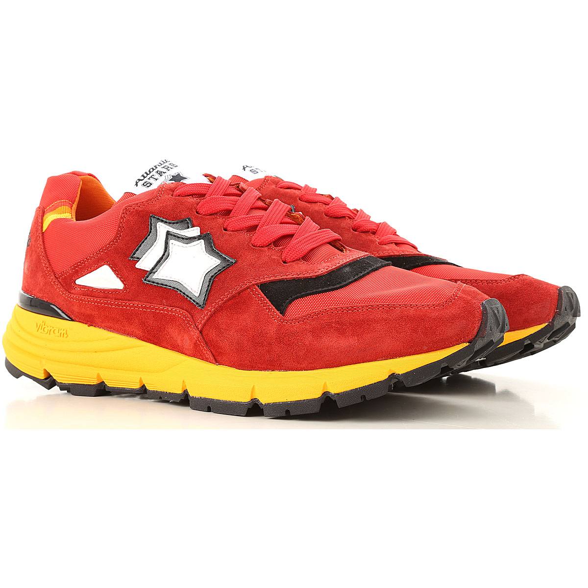Atlantic Stars Sneakers for Men On Sale, Fire Red, Suede leather, 2019, 10 10.5 11.5 12 7.5 8 9