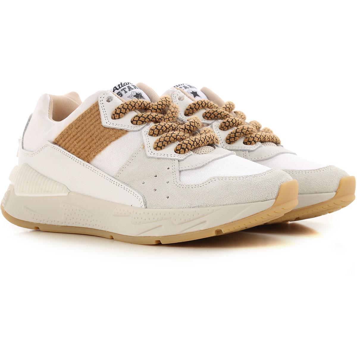 Atlantic Stars Sneakers for Women, White, white, 2019, 6 7