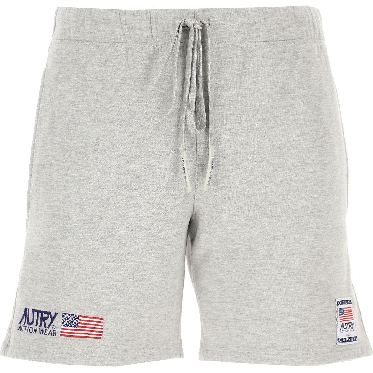 Autry Shorts for Men, Grey, Cotton, 2019