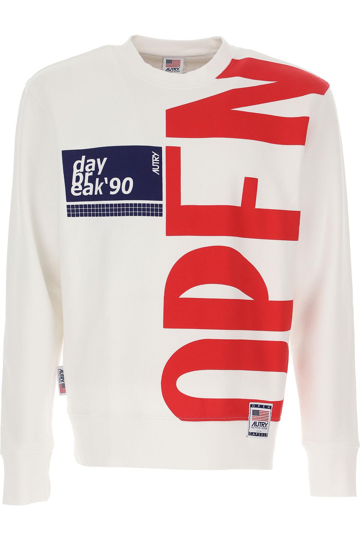 Autry Sweatshirt for Men, White, Cotton, 2019, L XL