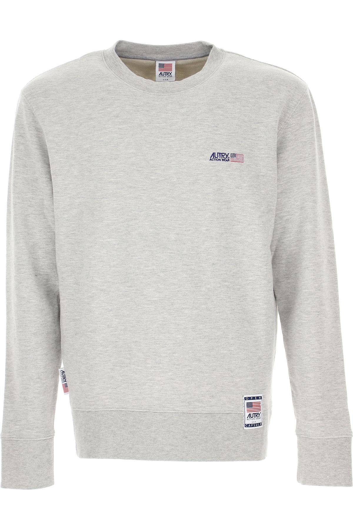 Autry Sweatshirt for Men, Grey, Cotton, 2019, L XL