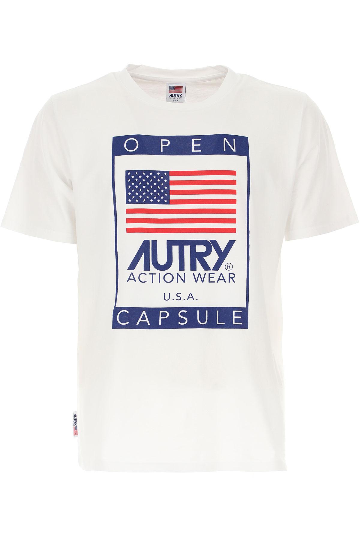 Autry T-Shirt for Men, White, Cotton, 2019, L XL