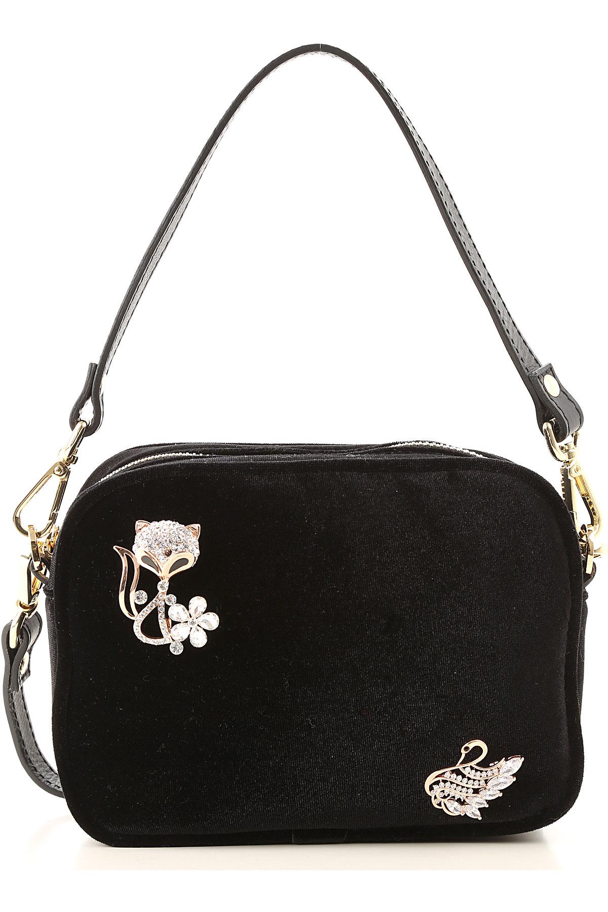 Avenue 67 Handbags On Sale, Black, Velvet, 2019