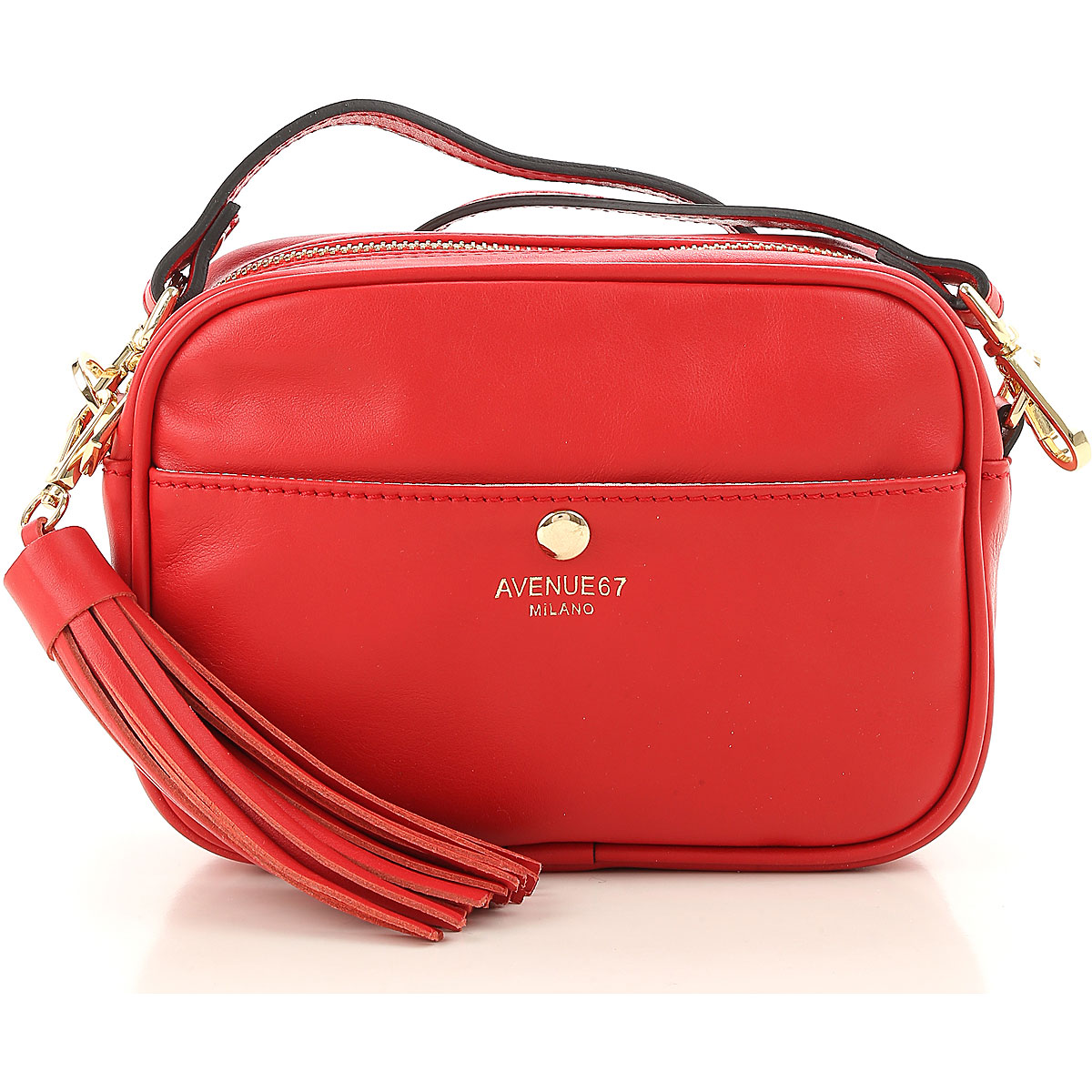 Image of Avenue 67 Shoulder Bag for Women On Sale, Red, Leather, 2017
