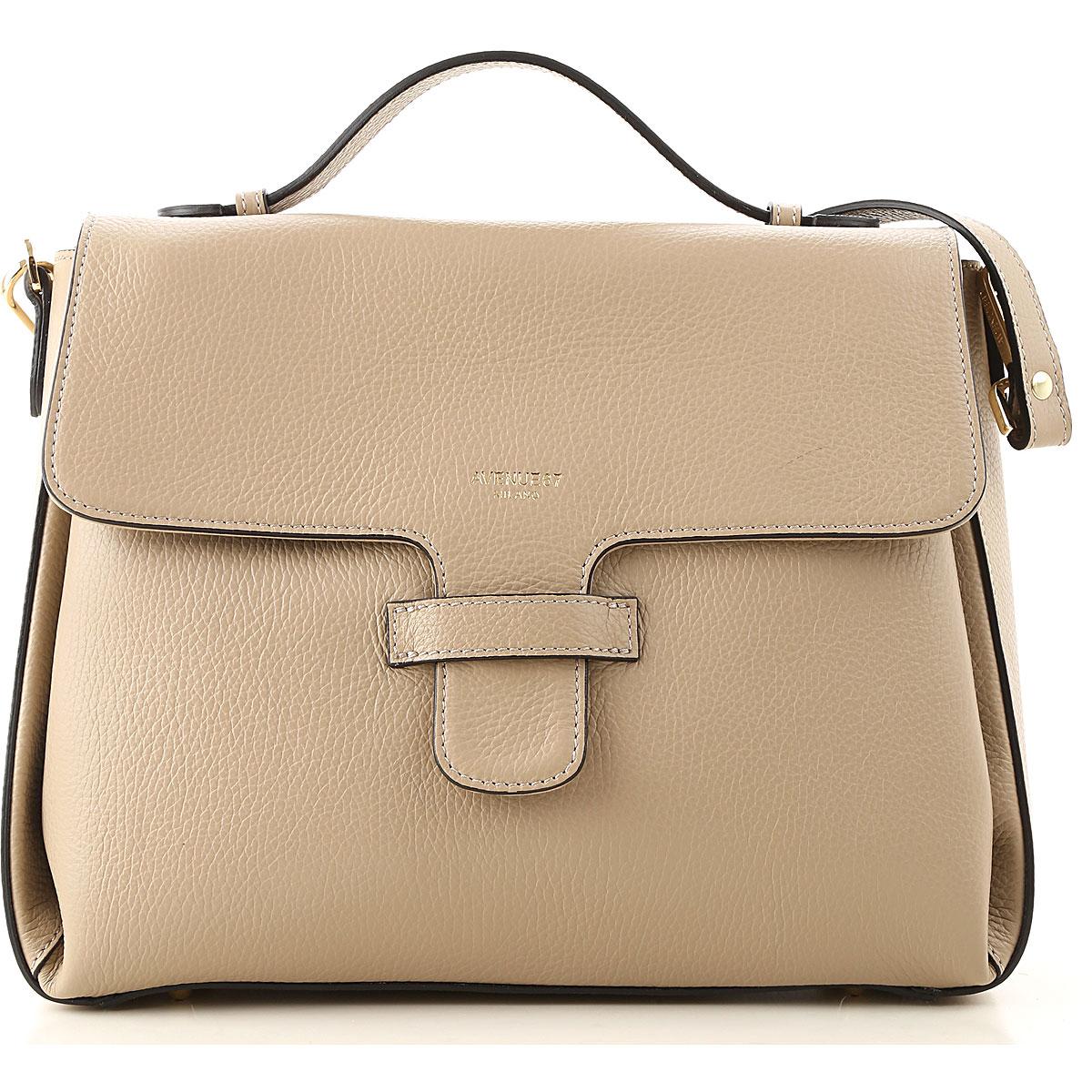 Avenue 67 Shoulder Bag for Women On Sale, Dove Brown, Leather, 2019