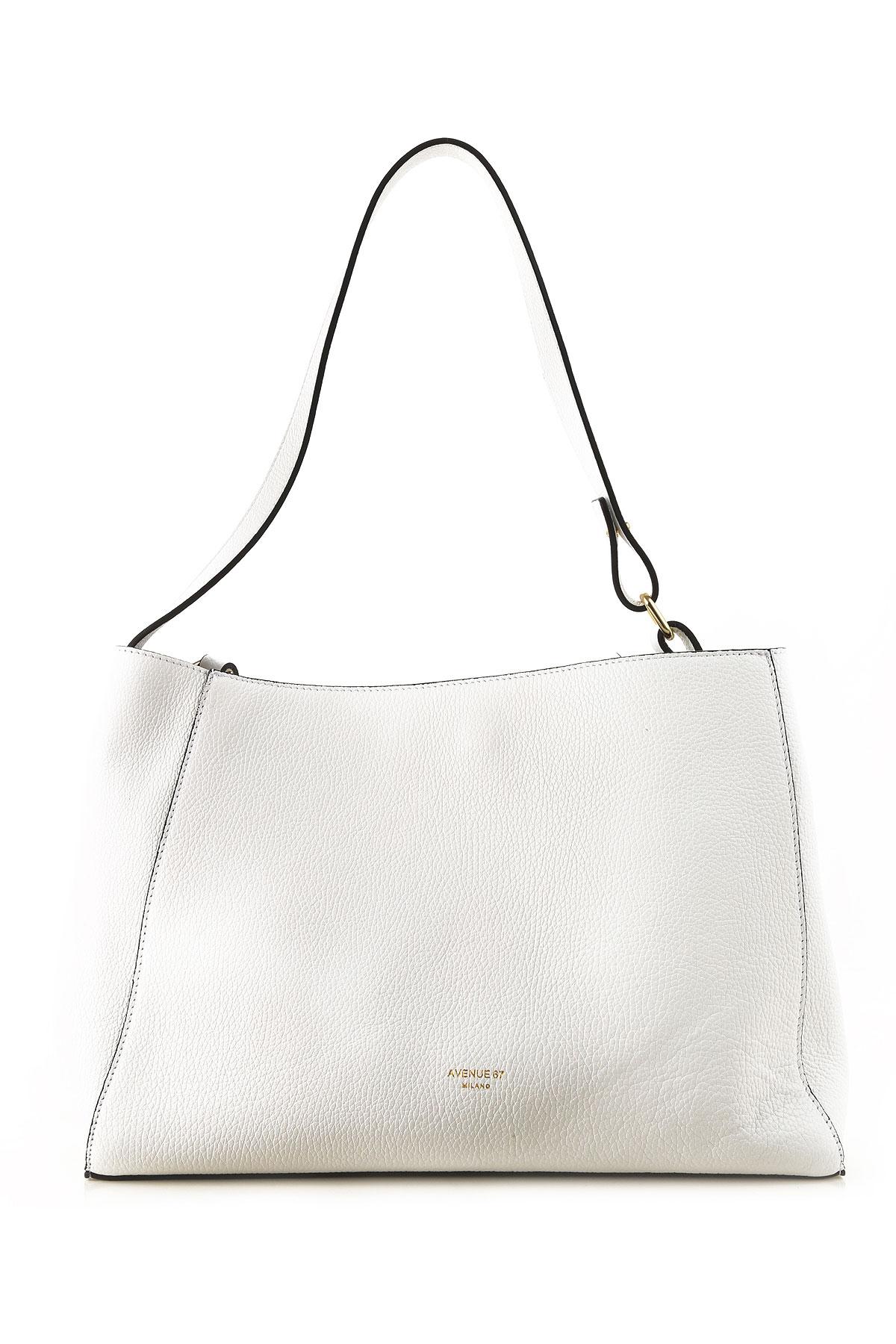 Avenue 67 Tote Bag On Sale, White, Leather, 2019