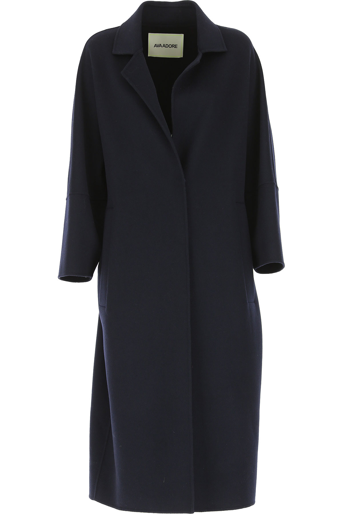 Image of Ava Adore Women\'s Coat, Navy Blue, Wool, 2017, 4 6