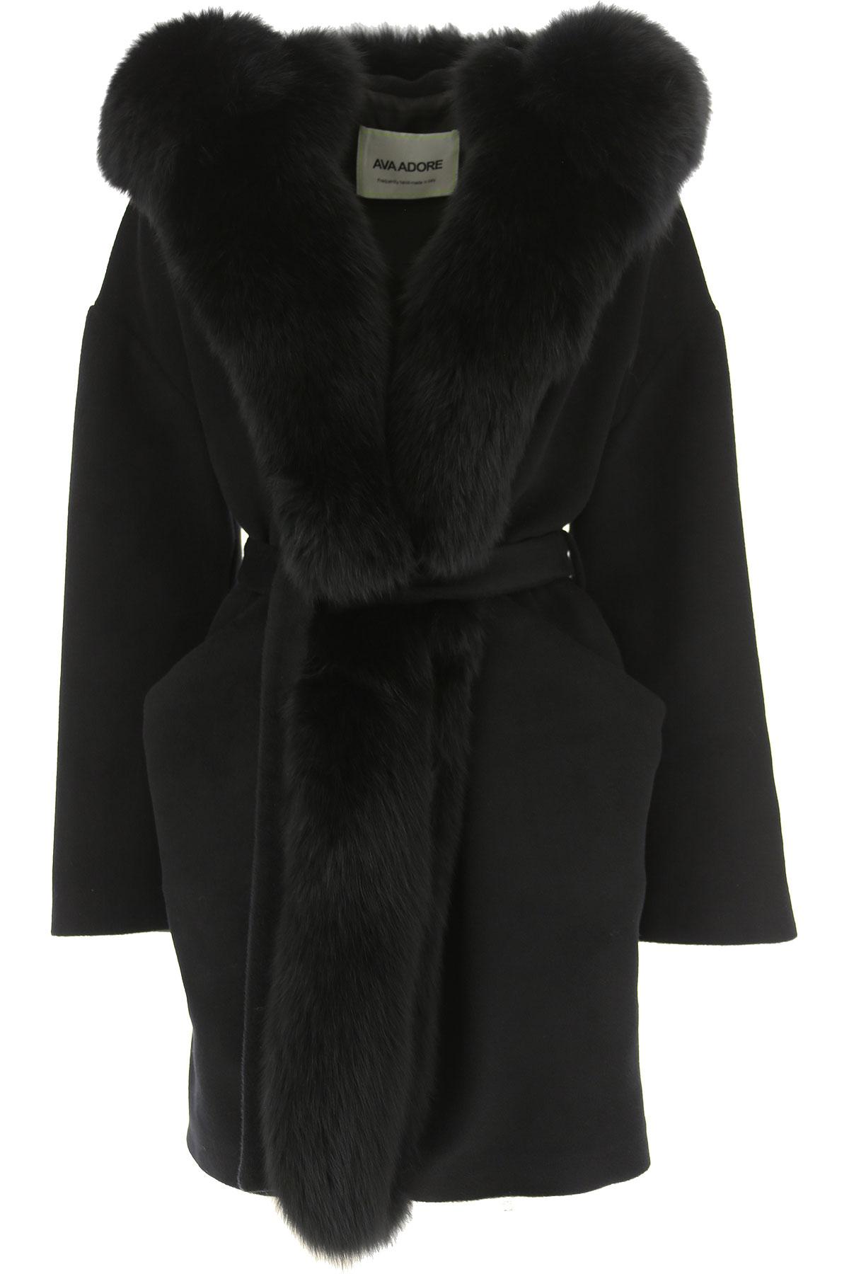 Image of Ava Adore Women\'s Coat, Black, Virgin wool, 2017, 4 6 8