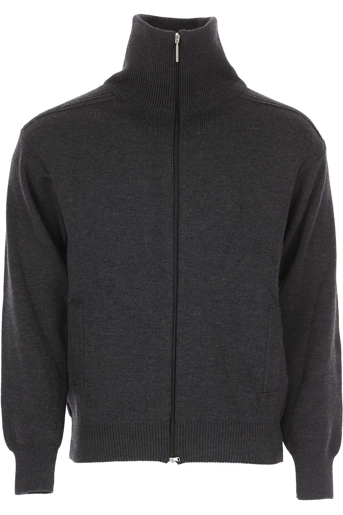 Alberto Vico Sweater for Men Jumper On Sale, Anthracite, Extrafine Merino Wool, 2019, L S XL