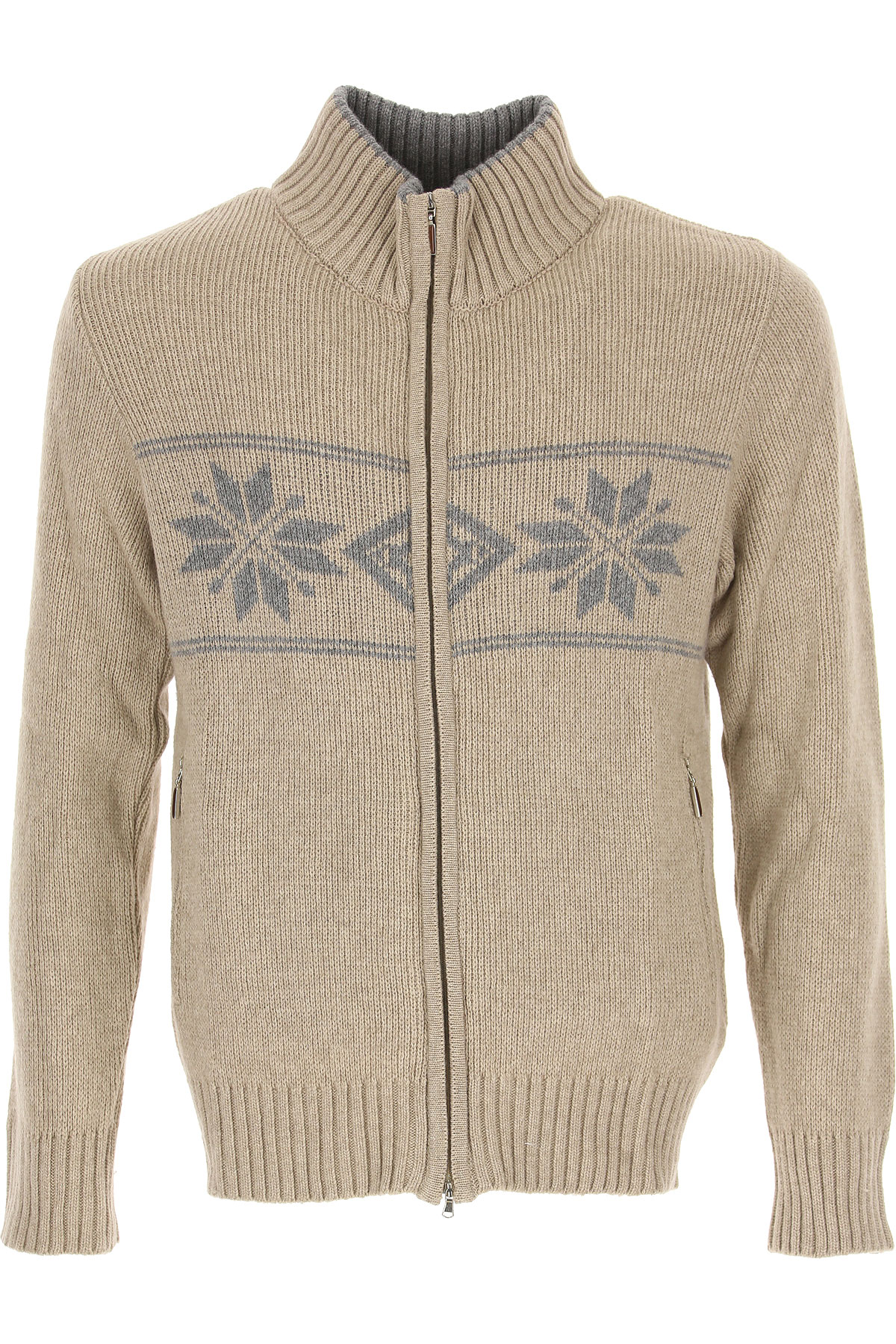 Alberto Vico Sweater for Men Jumper On Sale in Outlet, Sand, Merinos Wool, 2019, M XL
