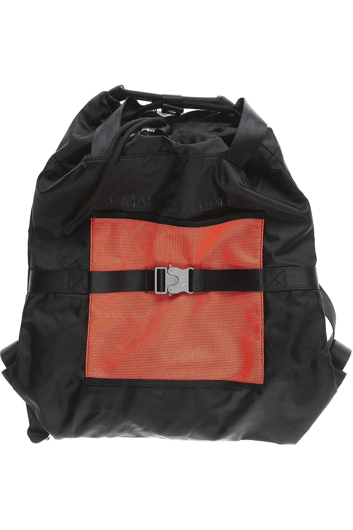 Armani Exchange Backpack for Men On Sale in Outlet, Black, polyester, 2019