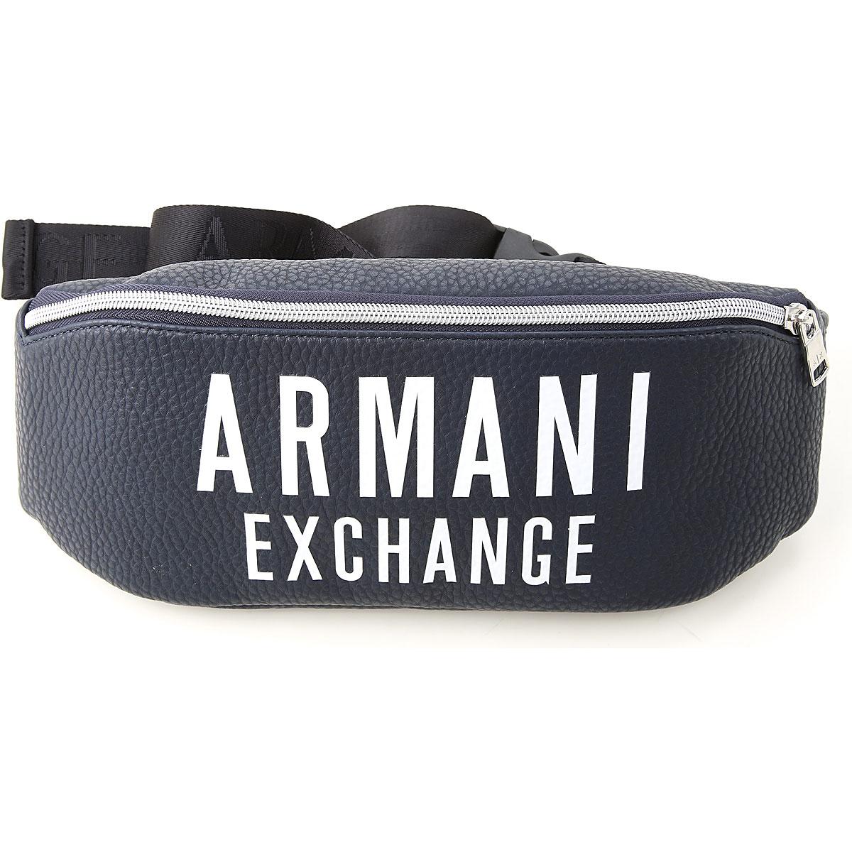 Armani Exchange Briefcases On Sale, Dark Blue, Eco Leather, 2019