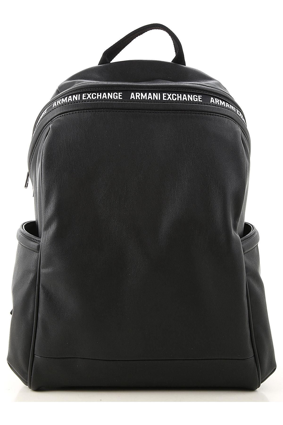 Armani Exchange Backpack for Men On Sale, Black, poliammide, 2019