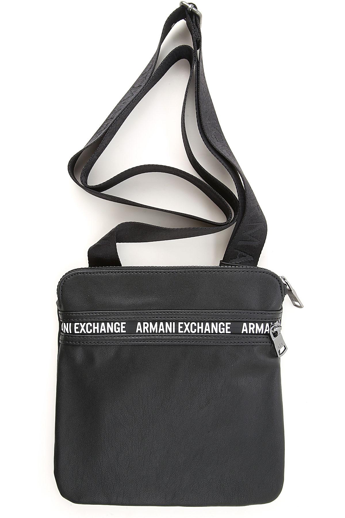 Armani Exchange Messenger Bag for Men On Sale, Black, poliammide, 2019