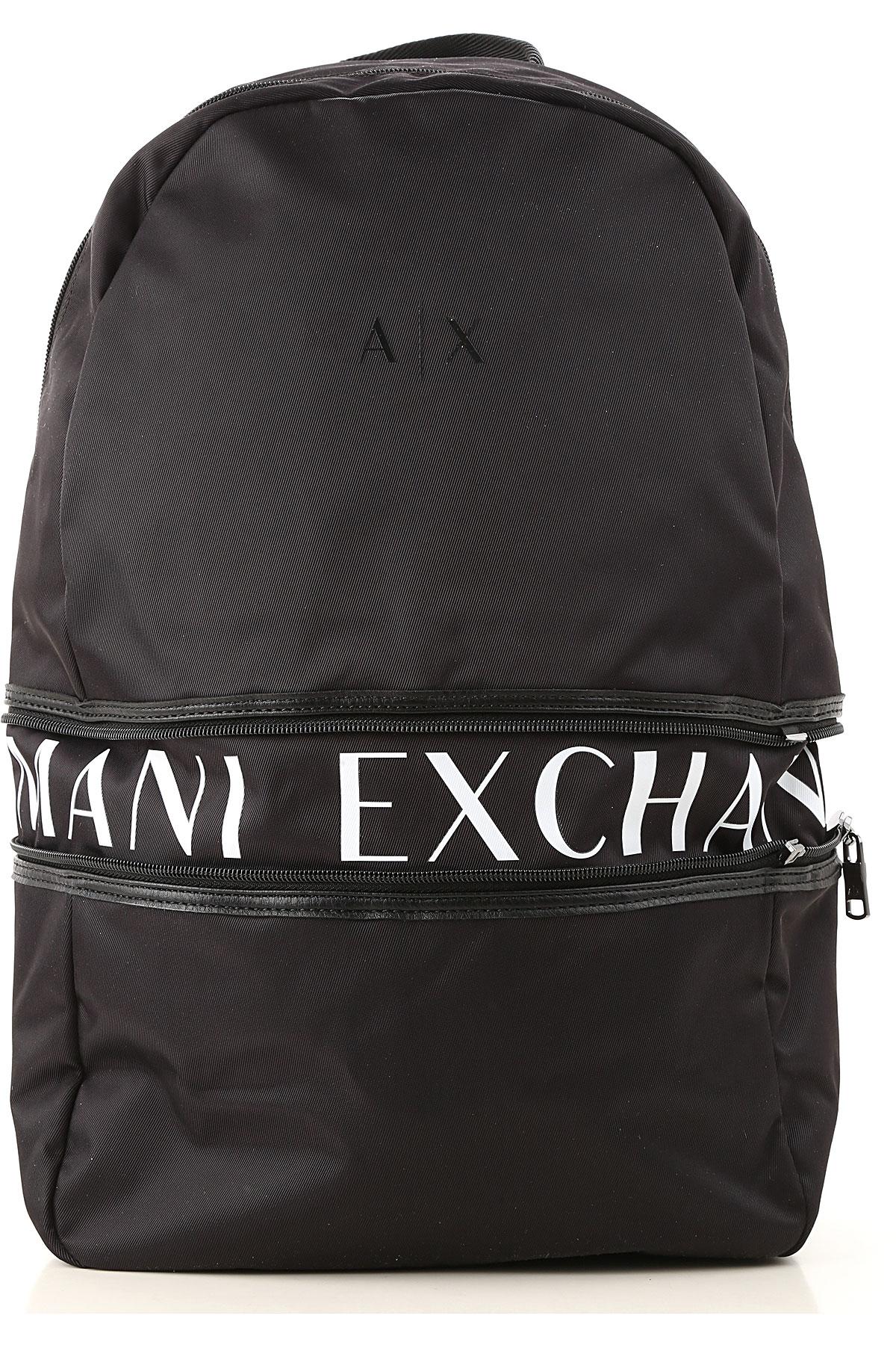 Armani Exchange Backpack for Men On Sale, Black, polyamide, 2019