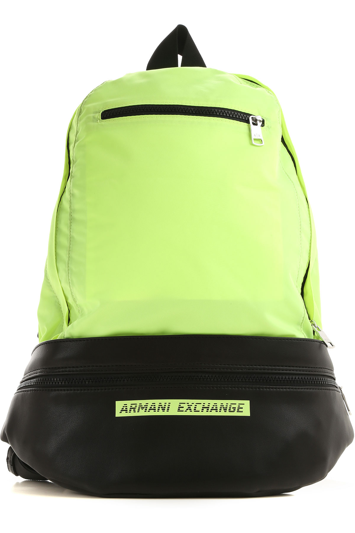 Armani Exchange Backpack for Men On Sale, Fluo Lime, poliammide, 2019