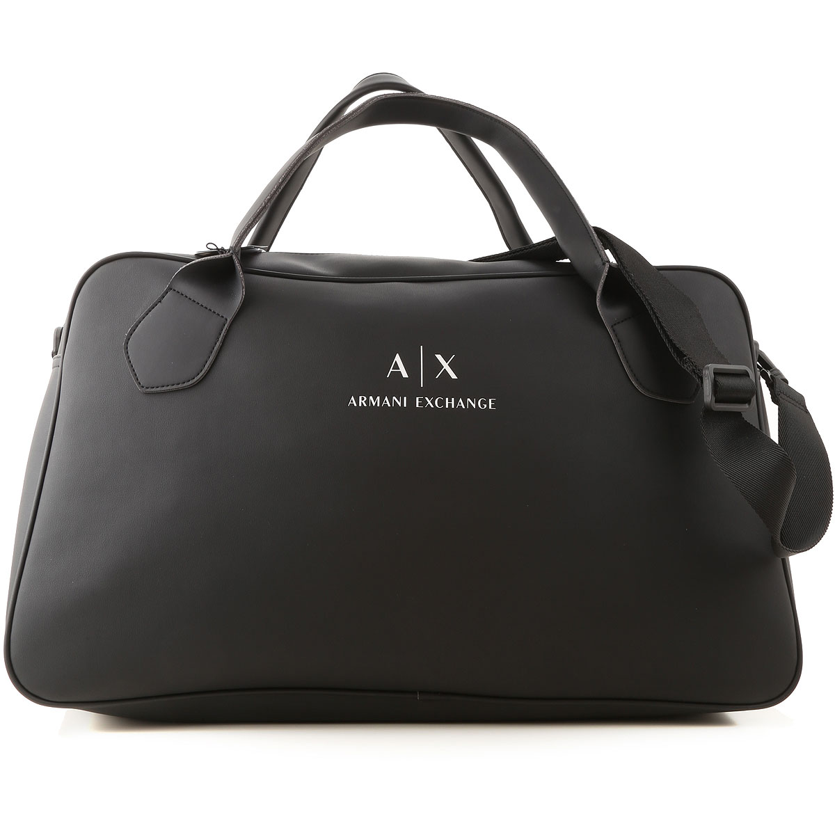 Armani Exchange Weekender Duffel Bag for Men On Sale, Black, polyester, 2019