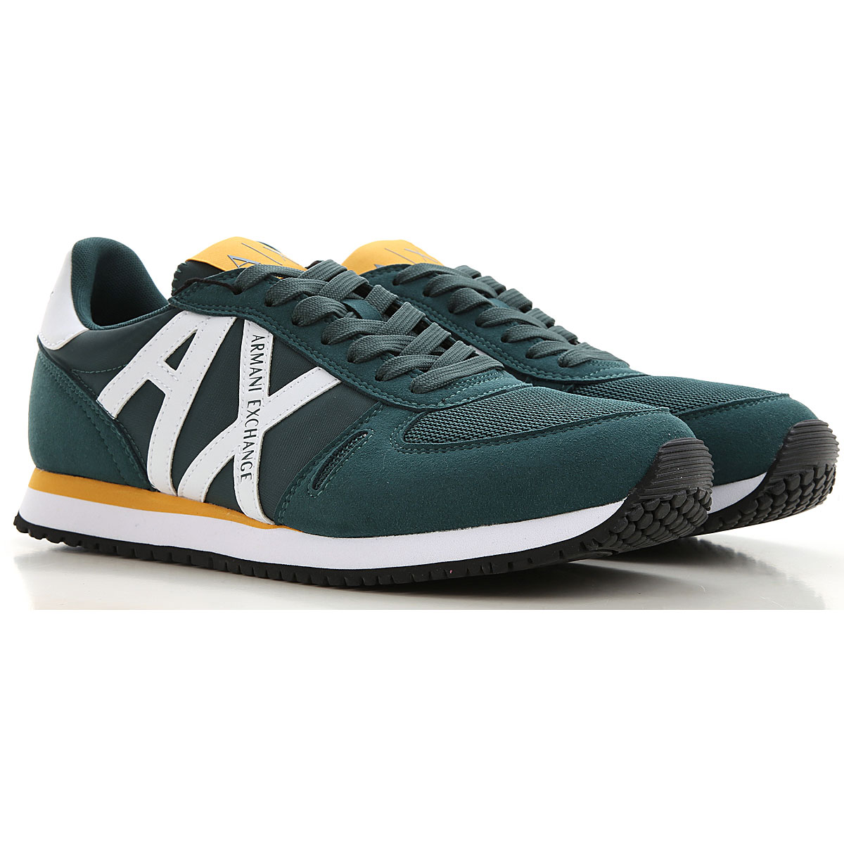 Armani Exchange Sneakers for Men On Sale, Green, polyester, 2019, UK 10 - EUR 44 - US 11 UK 5 - EUR 39 - US 6