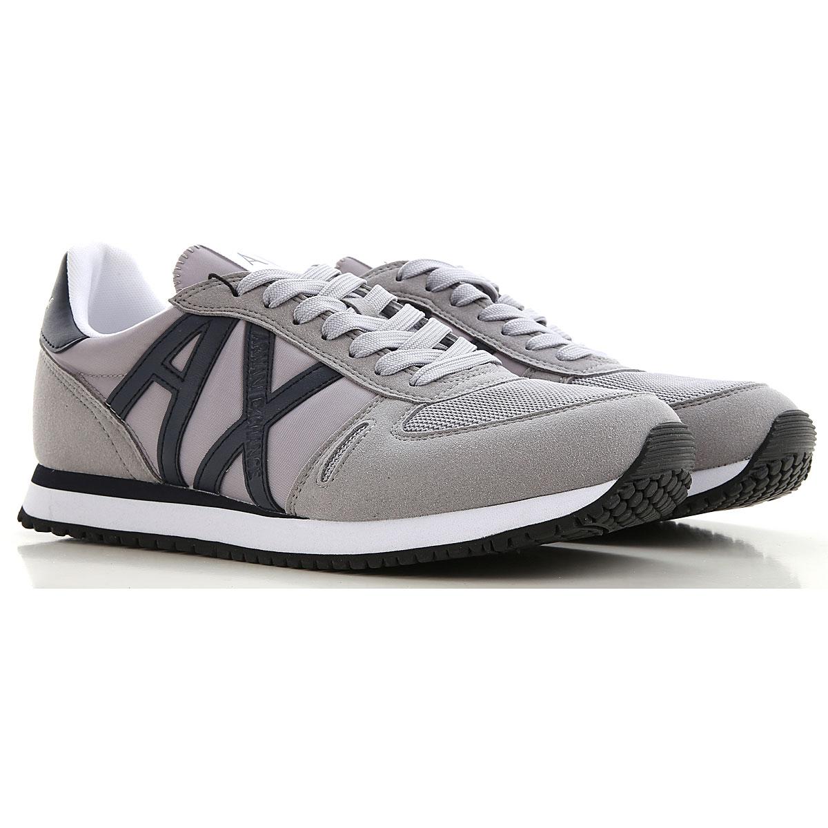 Armani Exchange Sneakers for Men On Sale, Grey, polyester, 2019, UK 11 - EUR 45 - US 12 UK 12 - EUR 46 - US 13