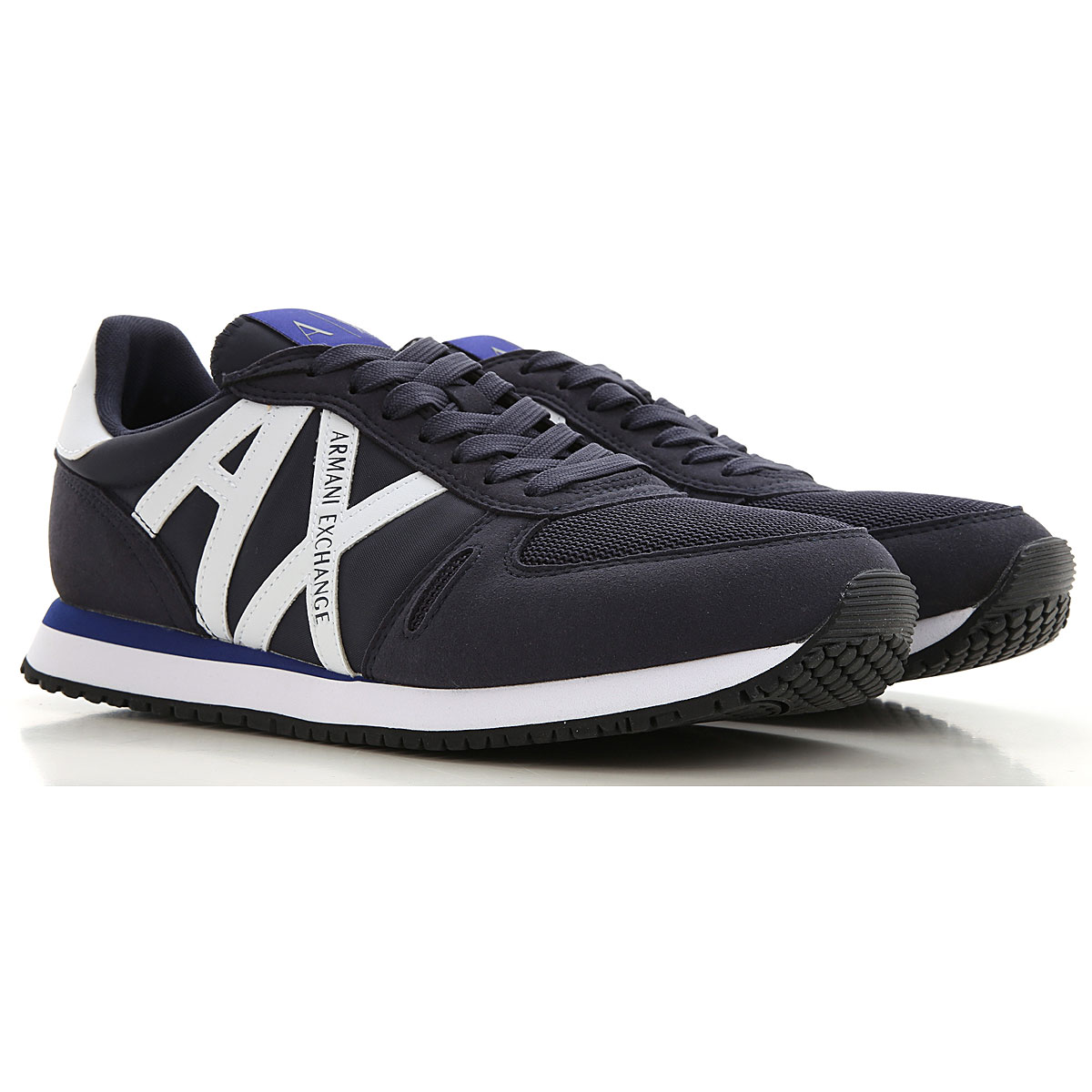 Armani Exchange Sneakers for Men On Sale, Blue, polyester, 2019, 10