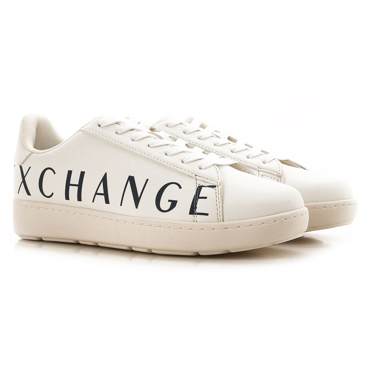Armani Exchange Sneakers for Men On Sale, White, Leather, 2019, 7 8