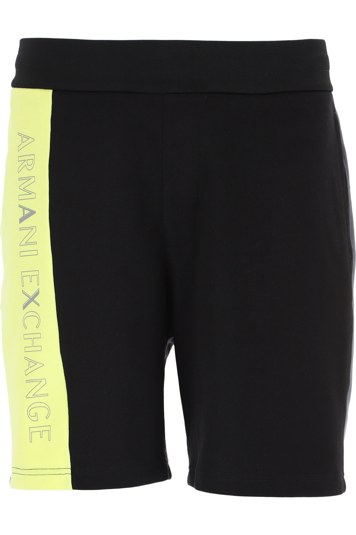 Armani Exchange Shorts for Men On Sale, Black, Cotton, 2019, L M XL