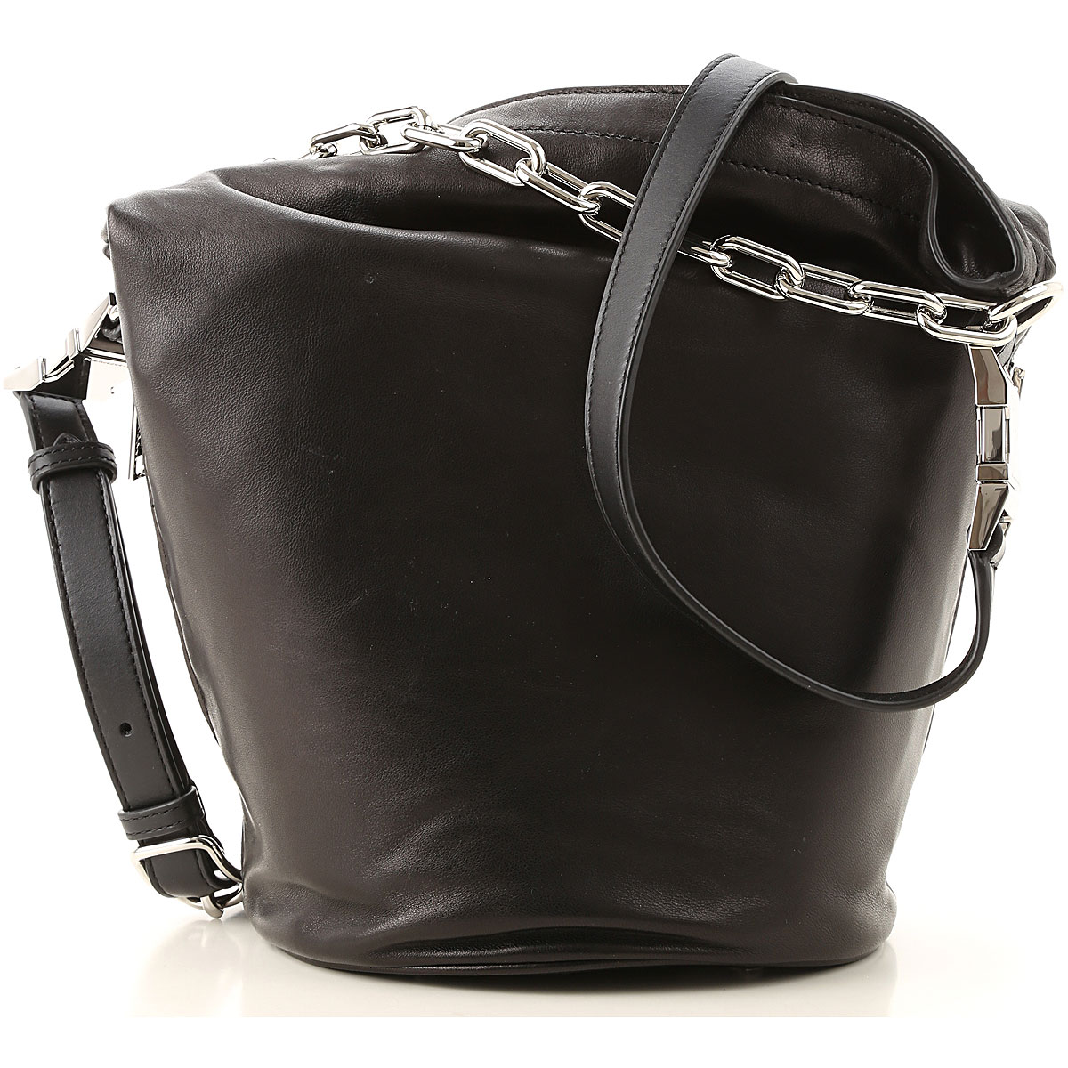 Alexander Wang Tote Bag On Sale, Black, Lamb Nappa Leather, 2019