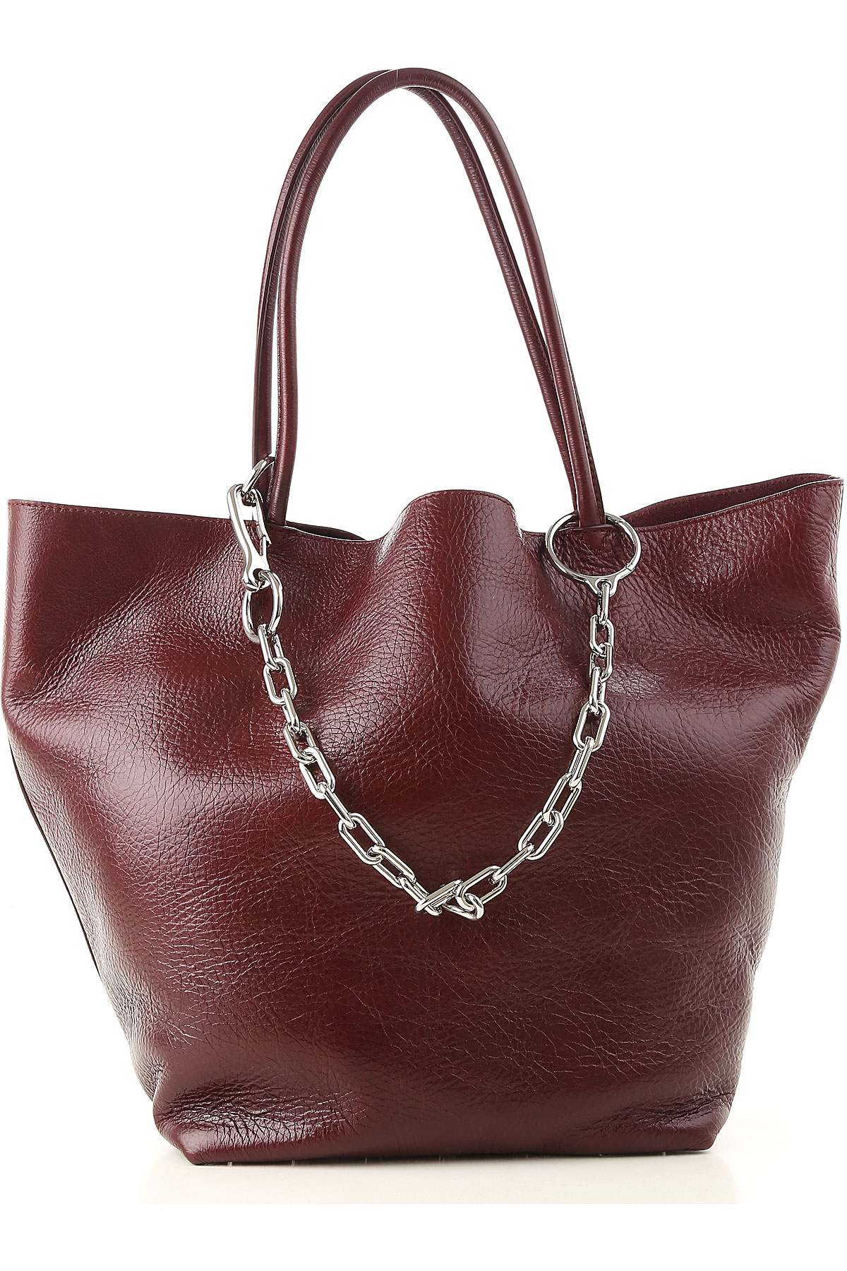 Image of Alexander Wang Tote Bag, Bordeaux, Leather, 2017