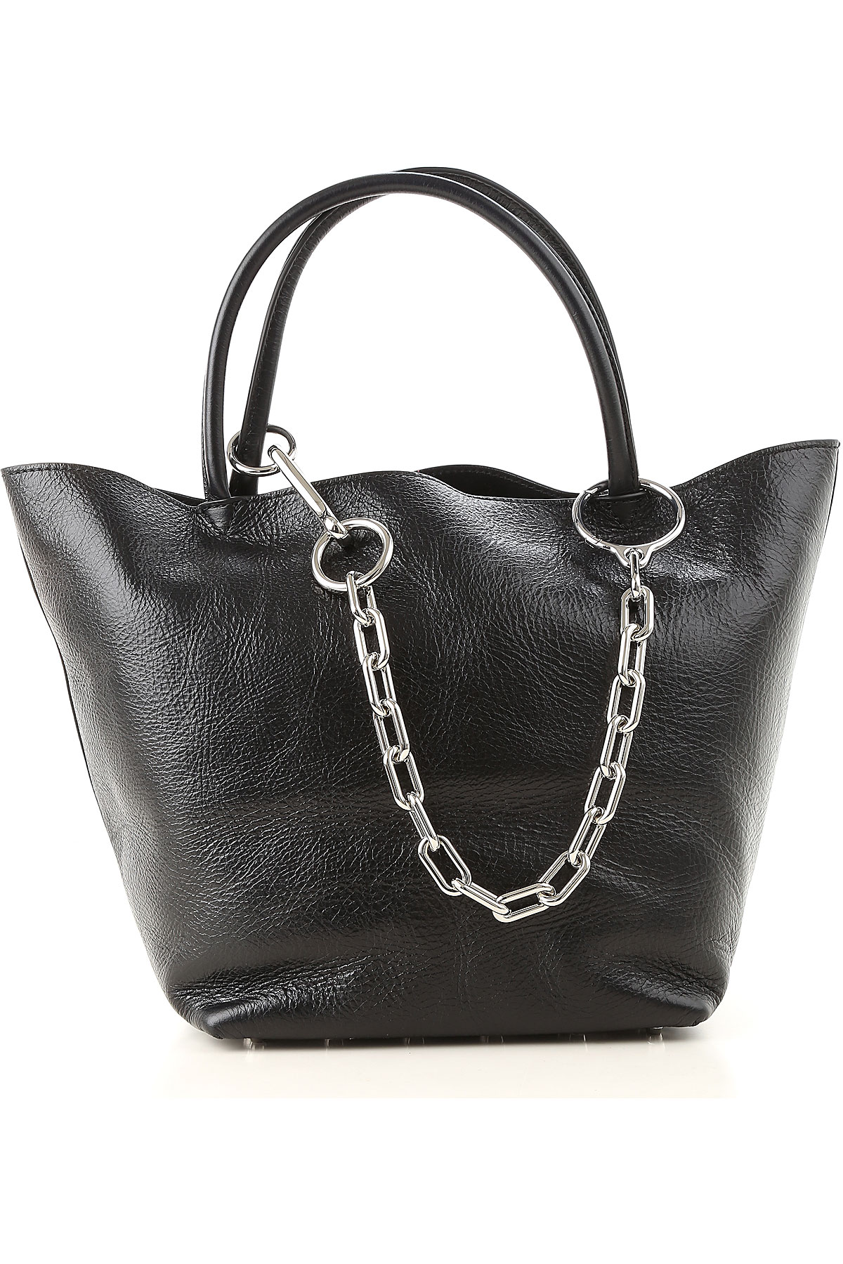 Image of Alexander Wang Tote Bag, Black, Leather, 2017