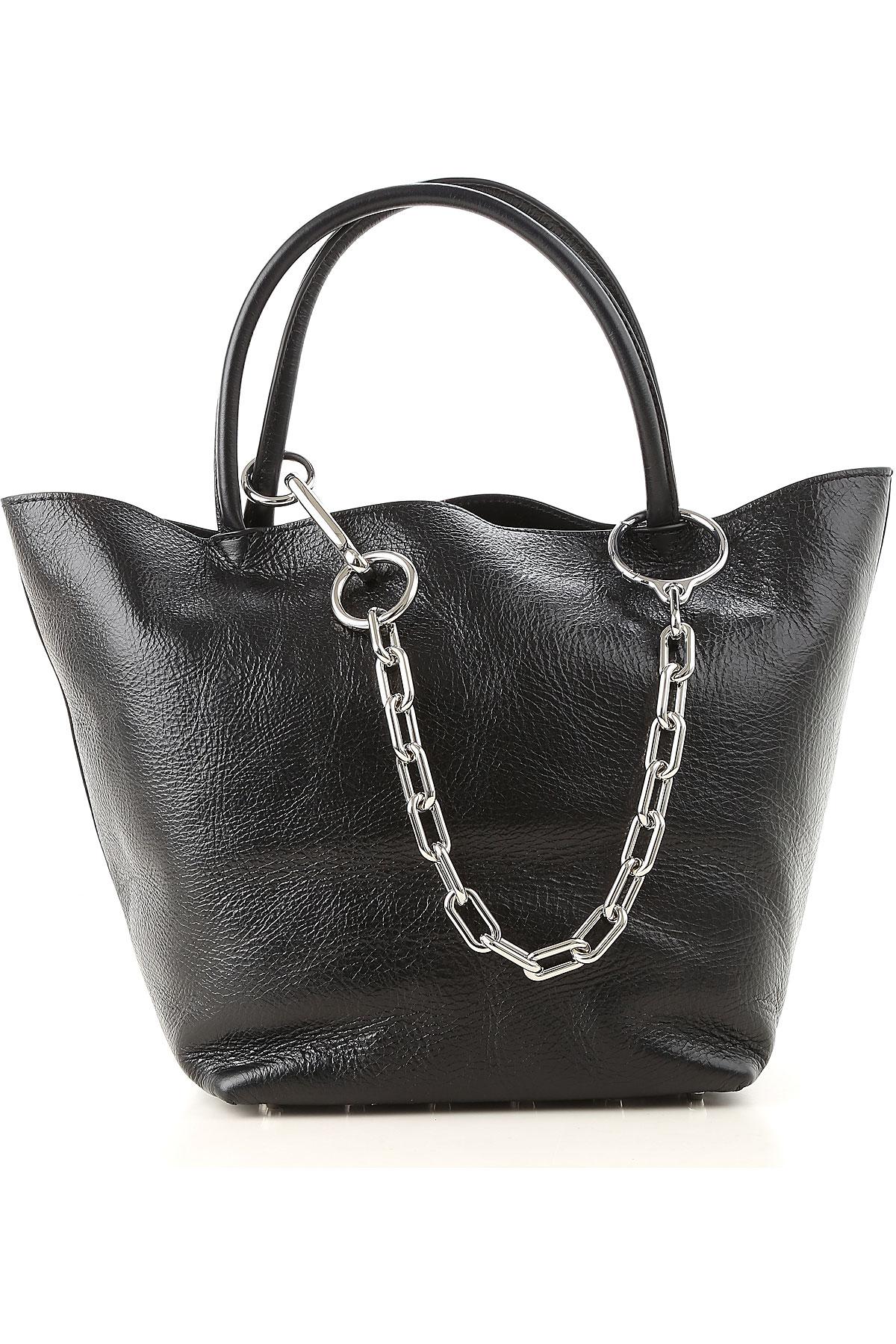 Image of Alexander Wang Tote Bag, Black, Leather, 2017