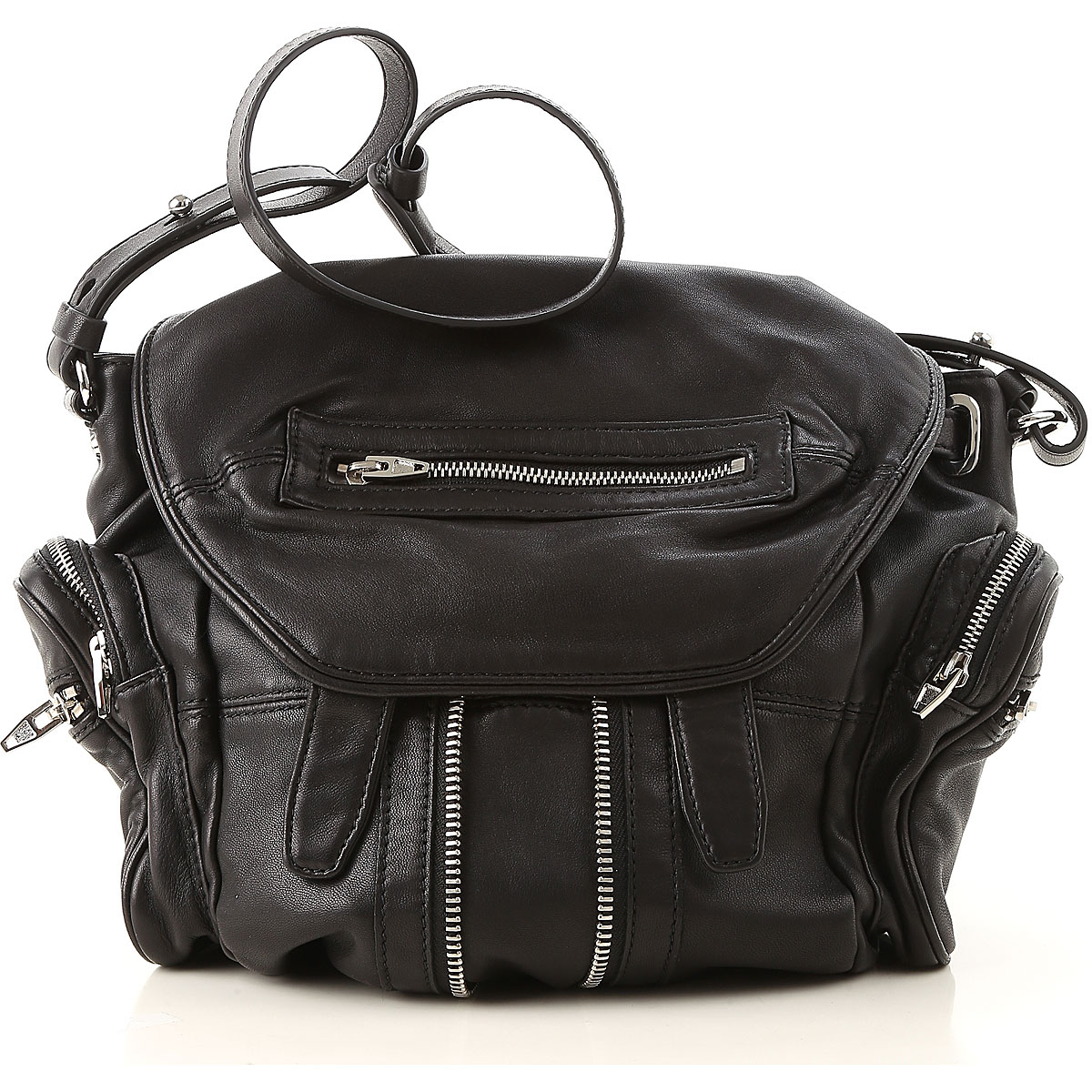 Image of Alexander Wang Backpack for Women, Black, Leather, 2017
