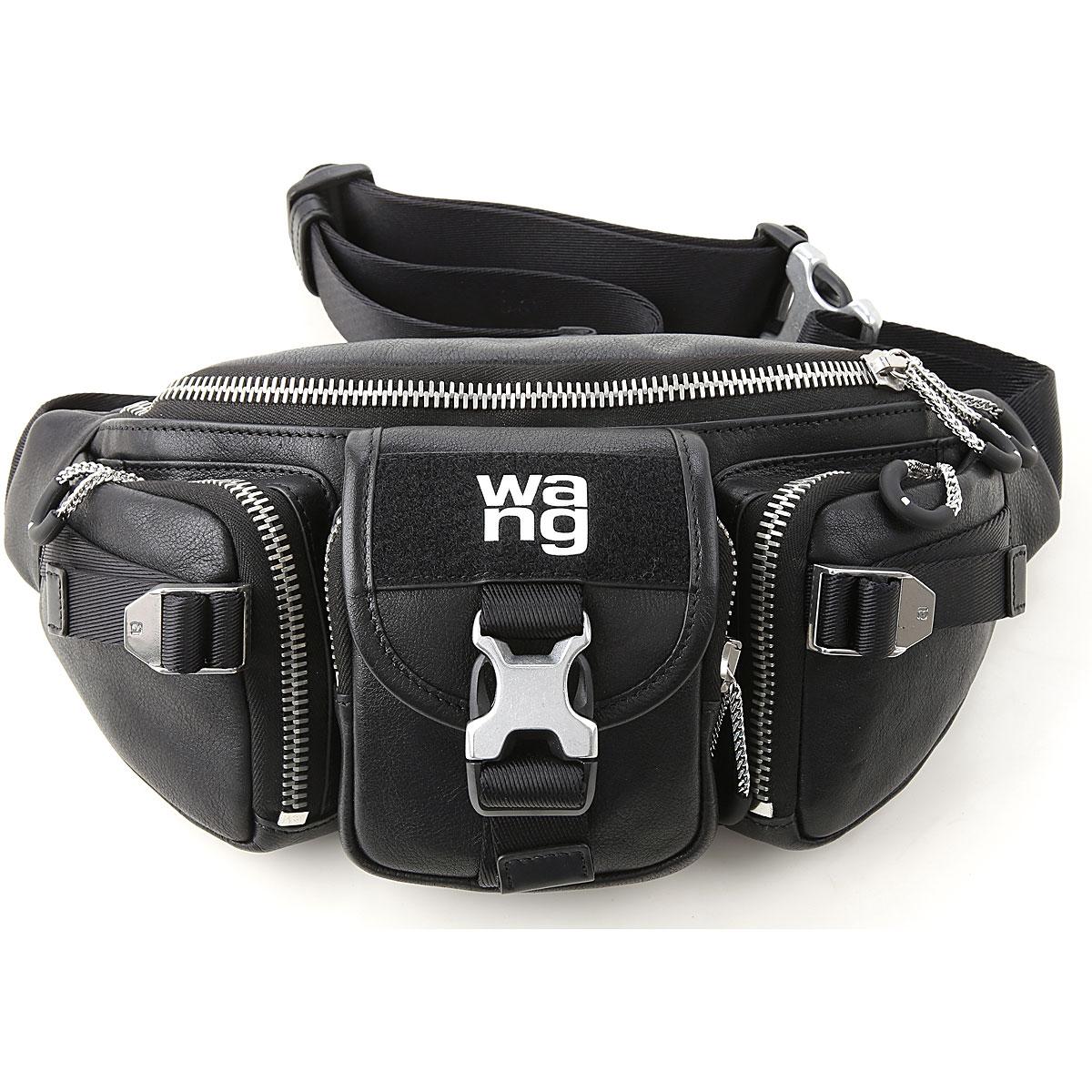Alexander Wang Shoulder Bag for Women On Sale, Black, Leather, 2019