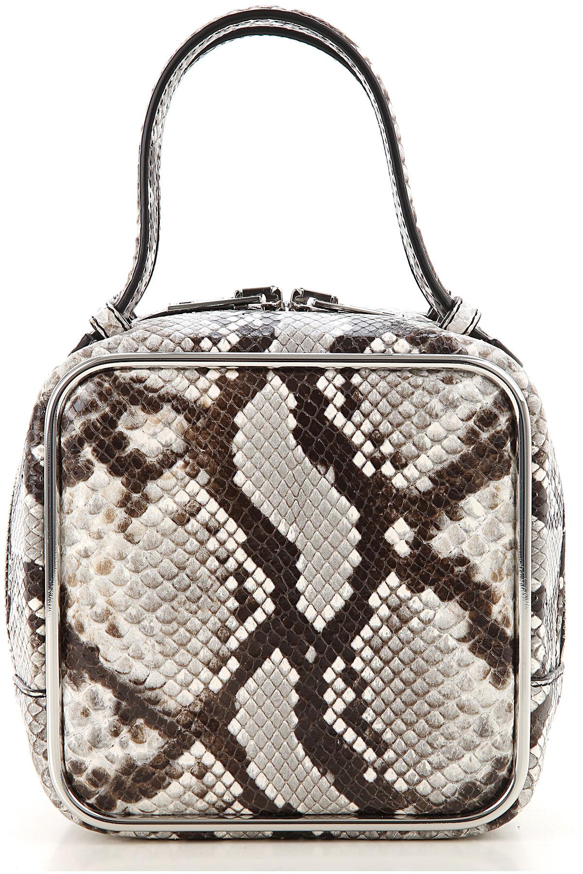 Alexander Wang Top Handle Handbag On Sale, Stone, Leather, 2019