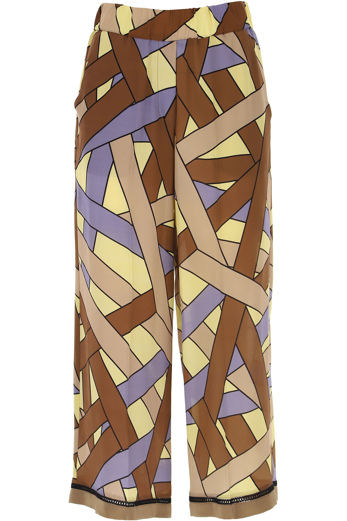 ALYSI Pants for Women On Sale, Brown, Cotton, 2019, 26 28 30