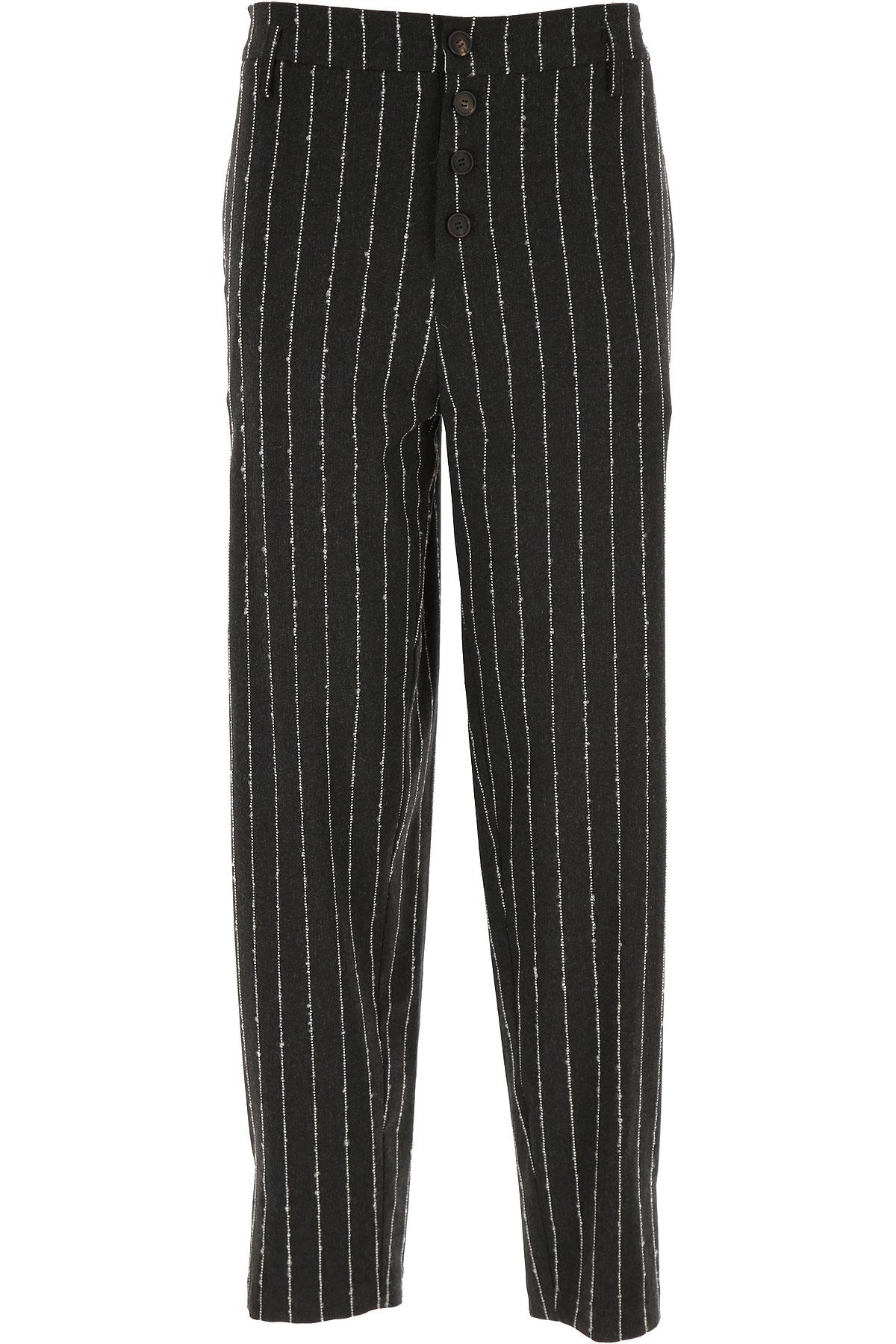 ALYSI Pants for Women On Sale, Blackboard Grey, Viscose, 2019, 26 28