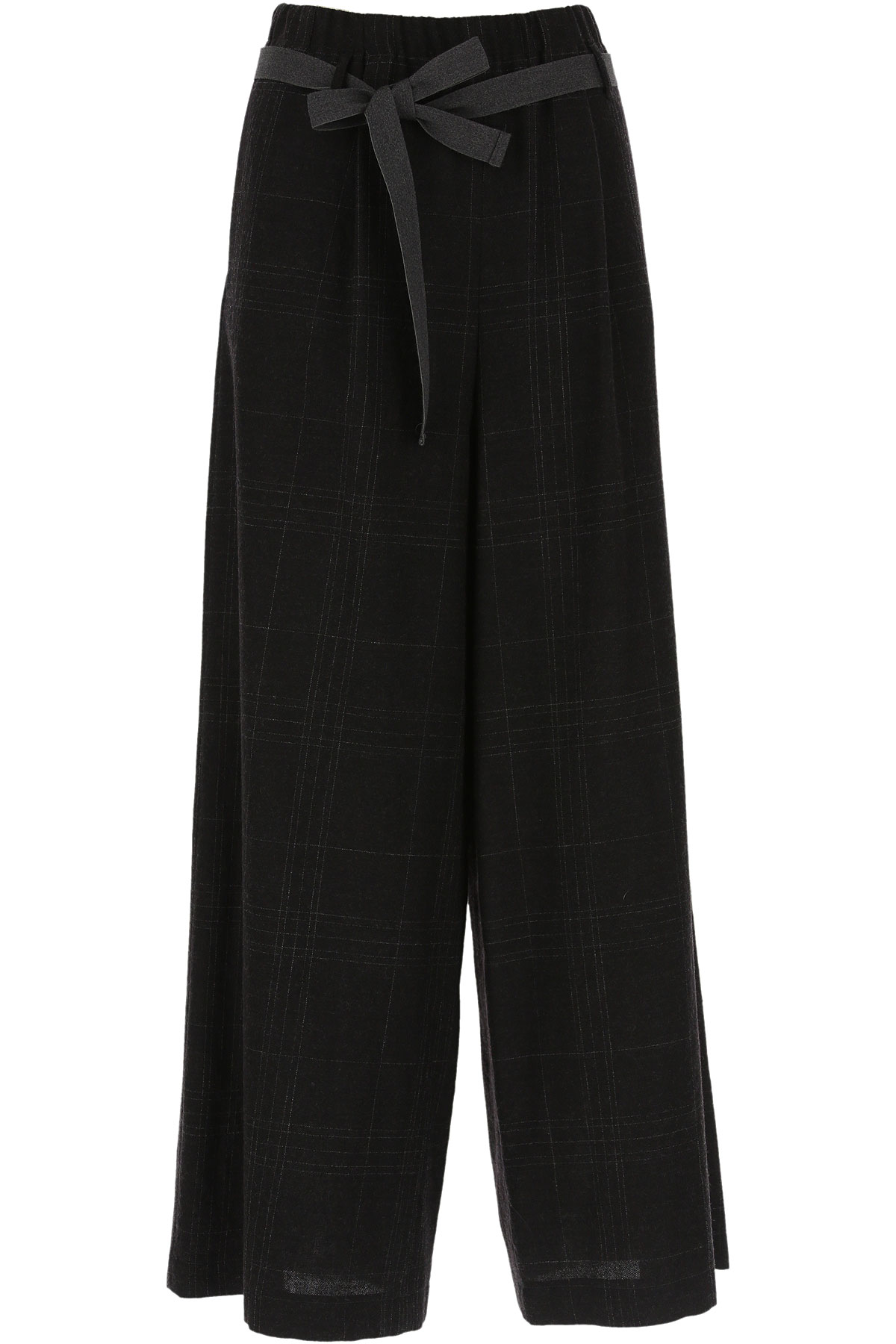ALYSI Pants for Women, Anthracite Grey, Virgin wool, 2019, 26 30