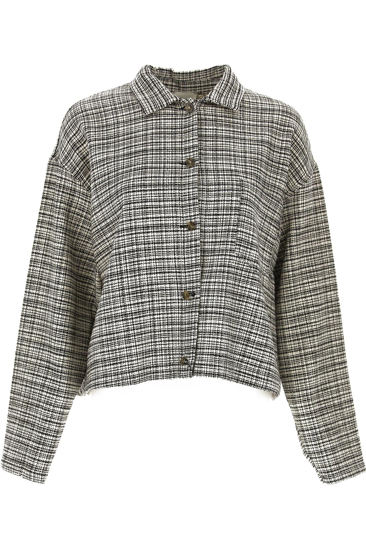 ALYSI Jacket for Women On Sale, Black, Virgin wool, 2019, 4 6 8