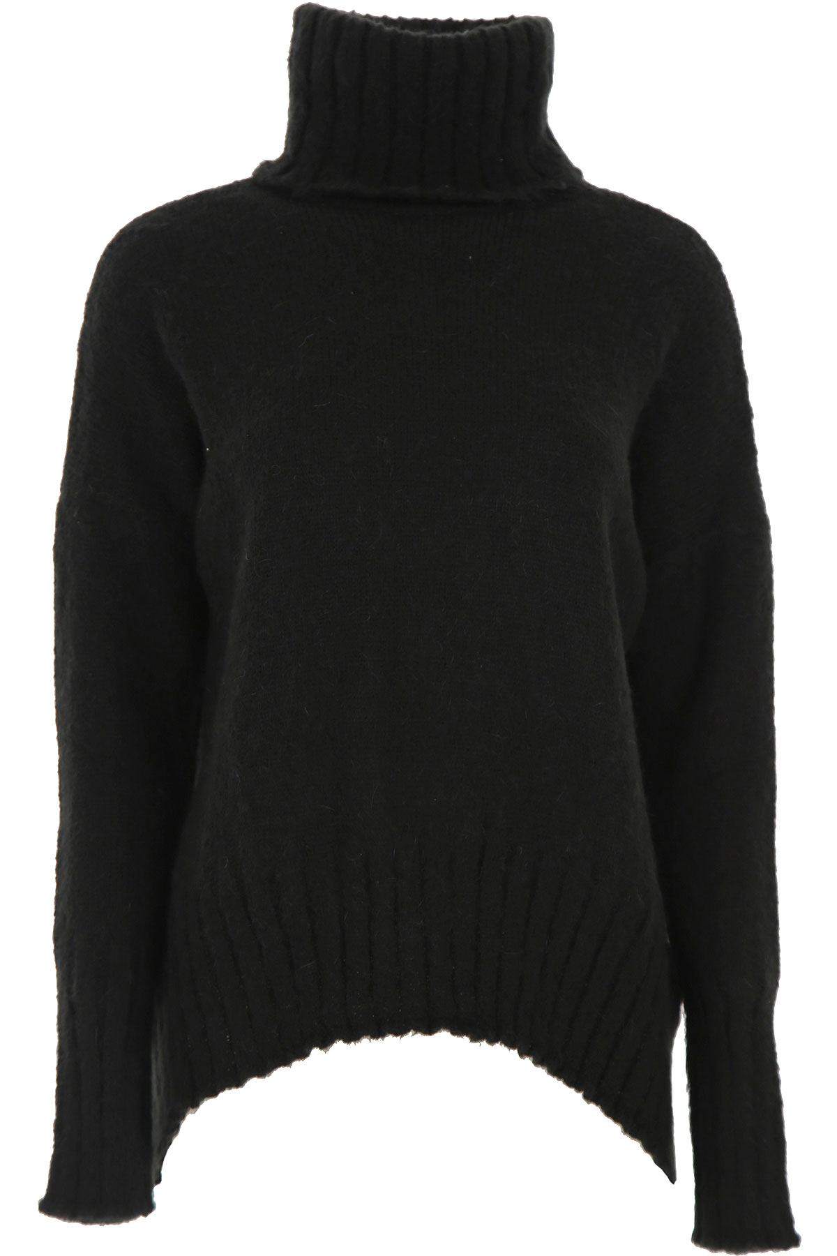 ALYSI Sweater for Women Jumper On Sale, Black, Acrylic, 2019, 2 4 6