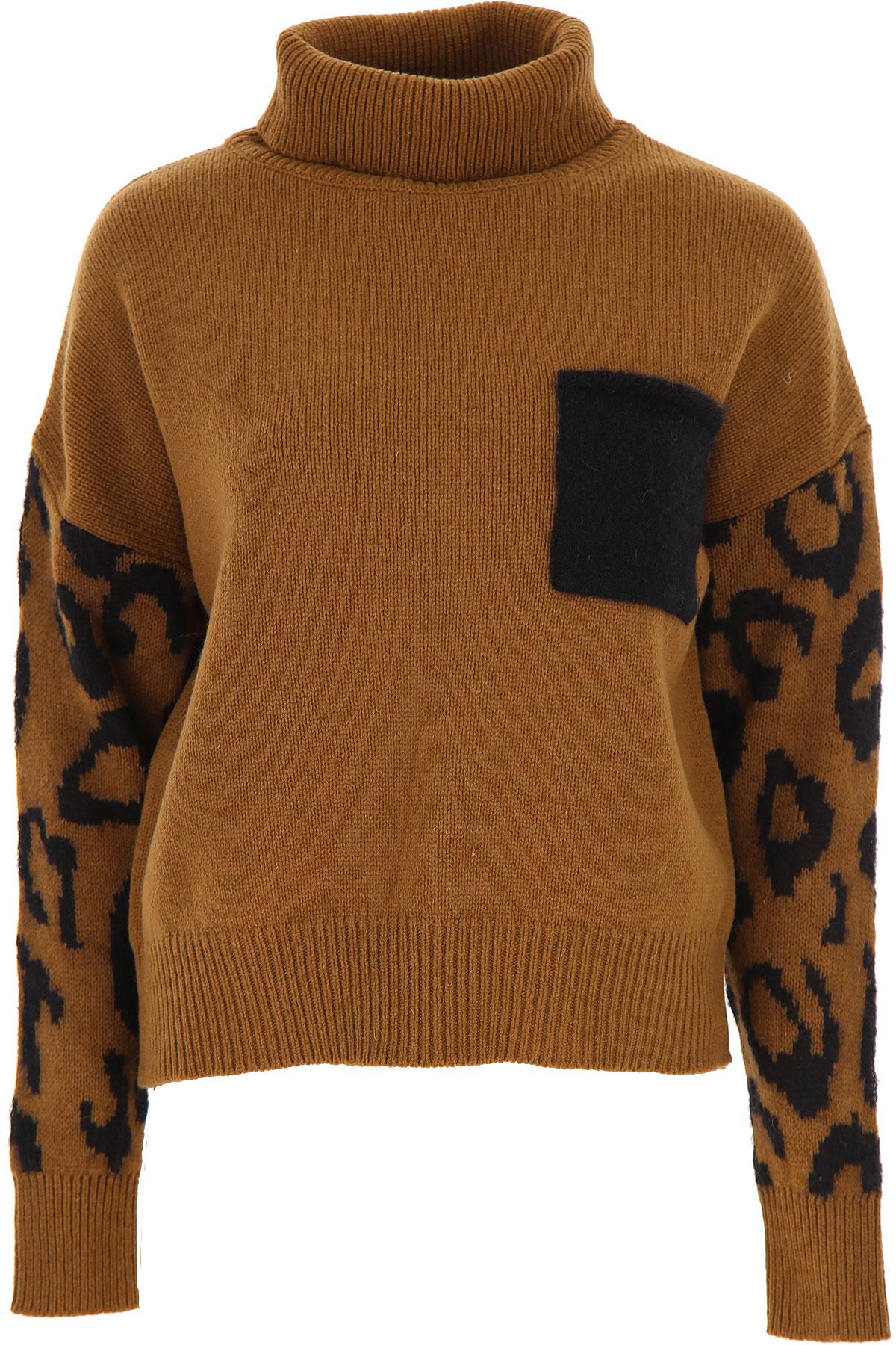 ALYSI Sweater for Women Jumper On Sale, Brown, Wool, 2019, 4 6