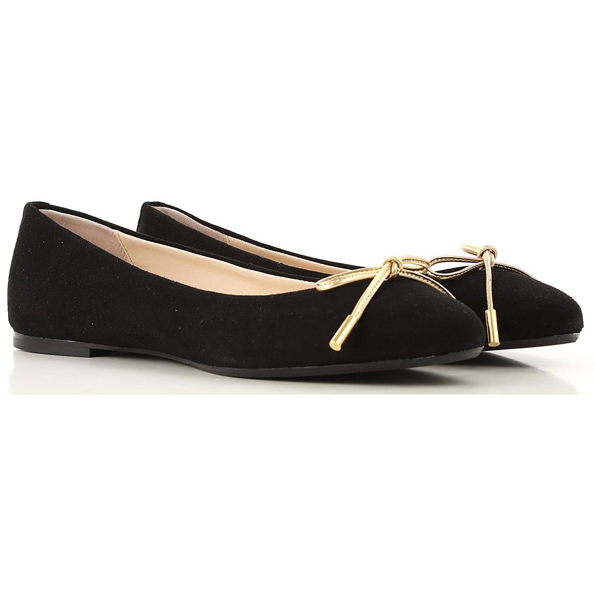 Image of Anna Baiguera Ballet Flats Ballerina Shoes for Women, Black, suede, 2017, 10 6 7 8