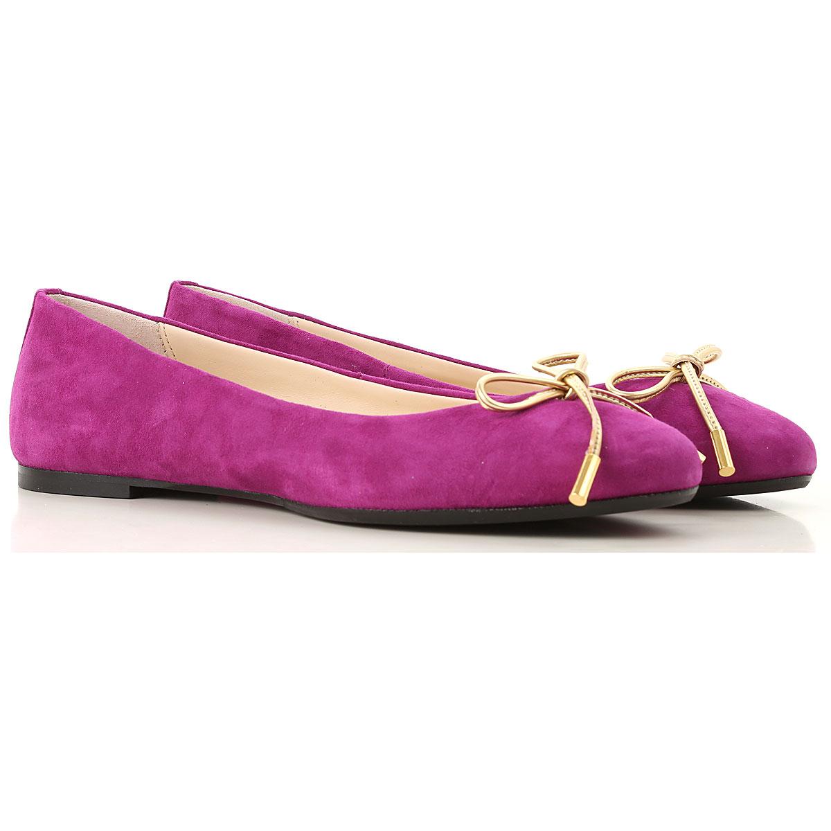 Image of Anna Baiguera Ballet Flats Ballerina Shoes for Women, fuxia, suede, 2017, 10 11 5 6 7 8